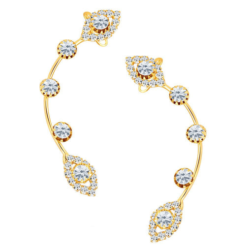 ShoStopper Stylish Gold Plated Austrian Diamond Earcuff