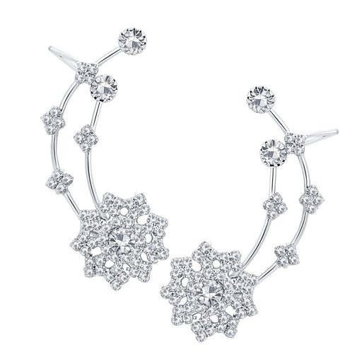 ShoStopper Attractive Rhodium Plated AD Earcuff