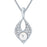 ShoStopper Pleasing Rhodium Plated Austrian Diamond Pendant Set-1