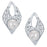 ShoStopper Pleasing Rhodium Plated Austrian Diamond Pendant Set-2