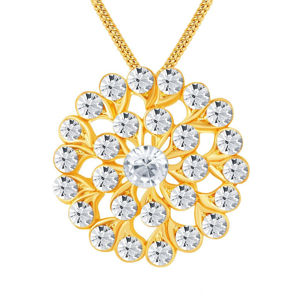 ShoStopper Sublime Gold Plated Austrian Diamond Pendant Set-1
