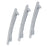 ShoStopper Wavy Rhodium Plated Austrian Diamond Set of 3 Hair Clip