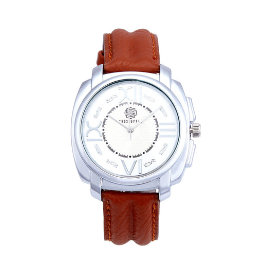 Shostopper Roman Numeric White Dial Analogue Watch For Men - SJ60001WM