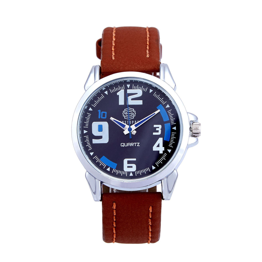 Shostopper Bluish Navy Blue Dial Analogue Watch For Men - SJ60002WM