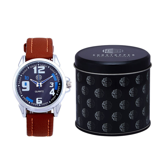 Shostopper Bluish Navy Blue Dial Analogue Watch For Men - SJ60002WM-1