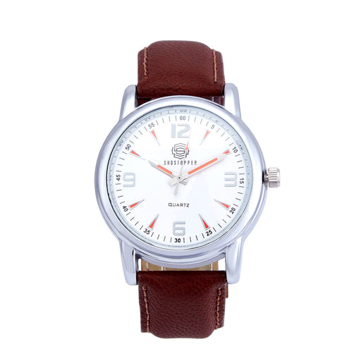 Shostopper Ceremonial White Dial Analogue Watch For Men - SJ60005WM