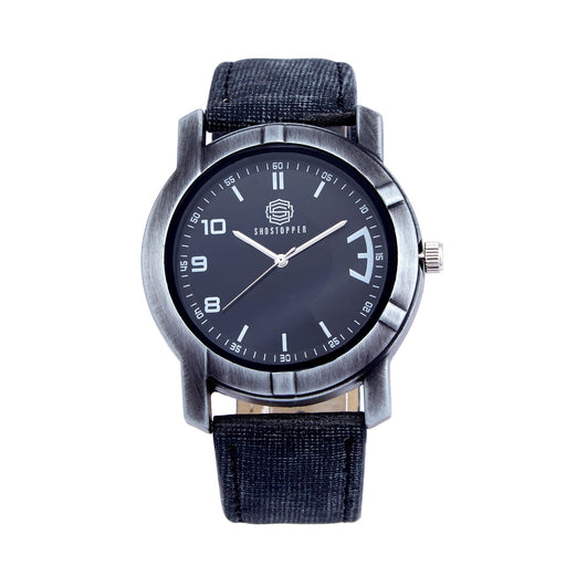 Shostopper Greyish Black Dial Analogue Watch For Men - SJ60010WM