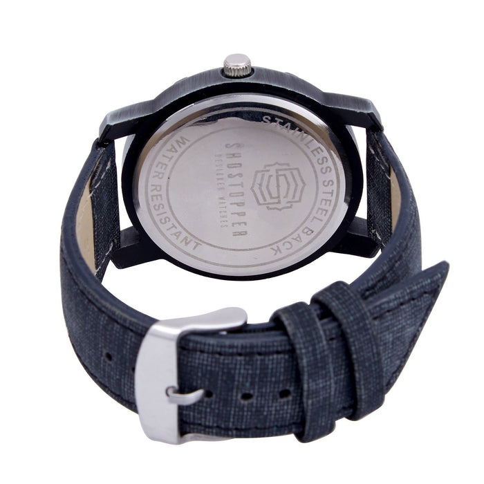 Shostopper Greyish Black Dial Analogue Watch For Men - SJ60010WM-3