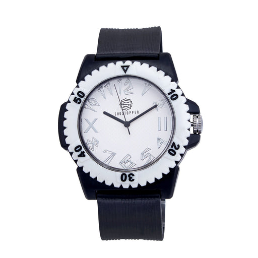 Shostopper Trendy White Dial Analogue Watch For Men - SJ60011WM