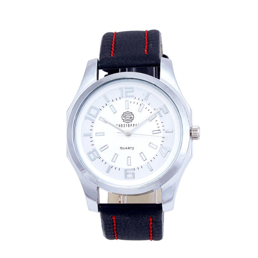 Shostopper Graceful White Dial Analogue Watch For Men - SJ60014WM