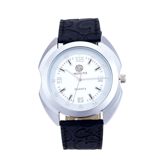 Shostopper Glistening White Dial Analogue Watch For Men - SJ60017WM