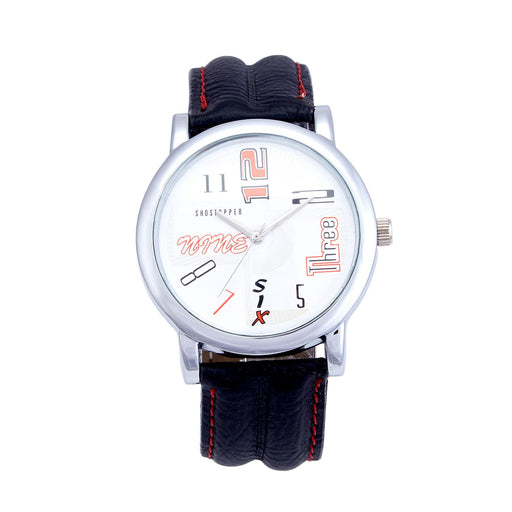 Shostopper Fastam White Dial Analogue Watch For Men - SJ60019WM