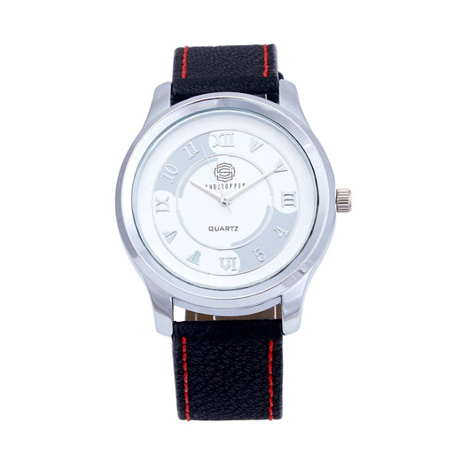 Shostopper Roman Numeric White Dial Analogue Watch For Men - SJ60021WM