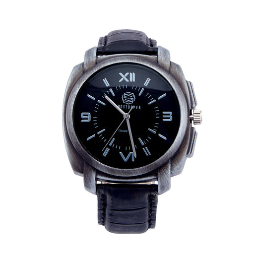 Shostopper Metallic Black Dial Analogue Watch For Men - SJ60024WM