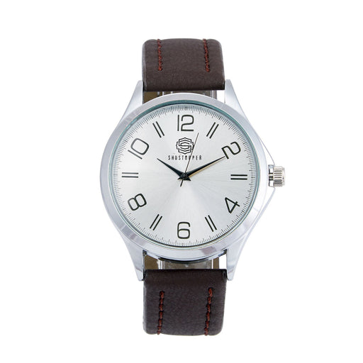 Shostopper RichMen Silver Dial Analogue Watch For Men - SJ60029WM