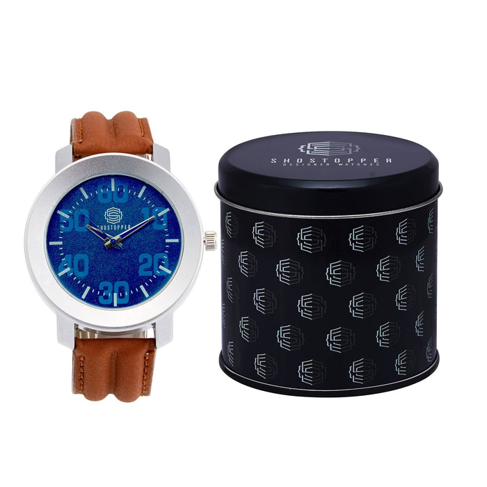 Shostopper Cool Blue Dial Analogue Watch For Men - SJ60031WM-1