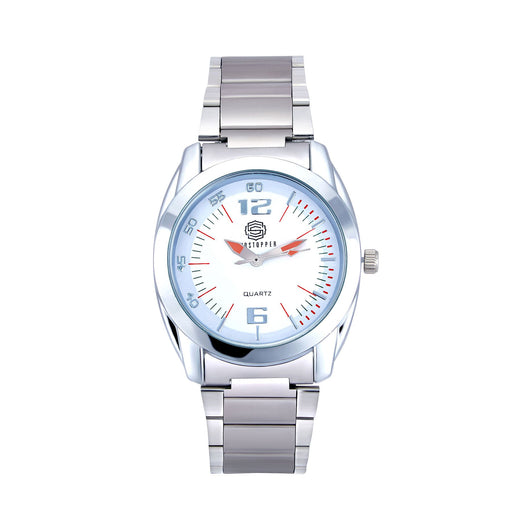 Shostopper Mirror Metallic White Dial Analogue Watch For Men - SJ60035WM