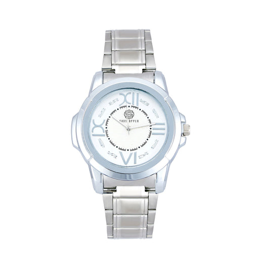 Shostopper Party Wear Metallic White Dial Analogue Watch For Men - SJ60036WM