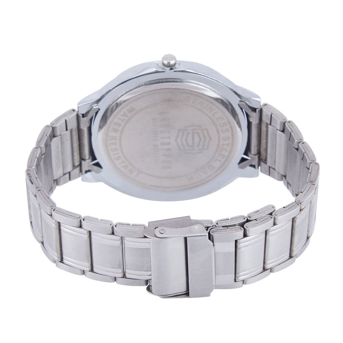 Shostopper Party Wear Metallic White Dial Analogue Watch For Men - SJ60036WM-3