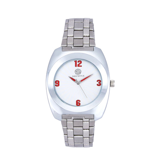 Shostopper Unique Metallic White Dial Analogue Watch For Men - SJ60040WM