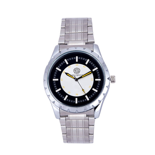 Shostopper Journey Metallic Black Dial Analogue Watch For Men - SJ60047WM