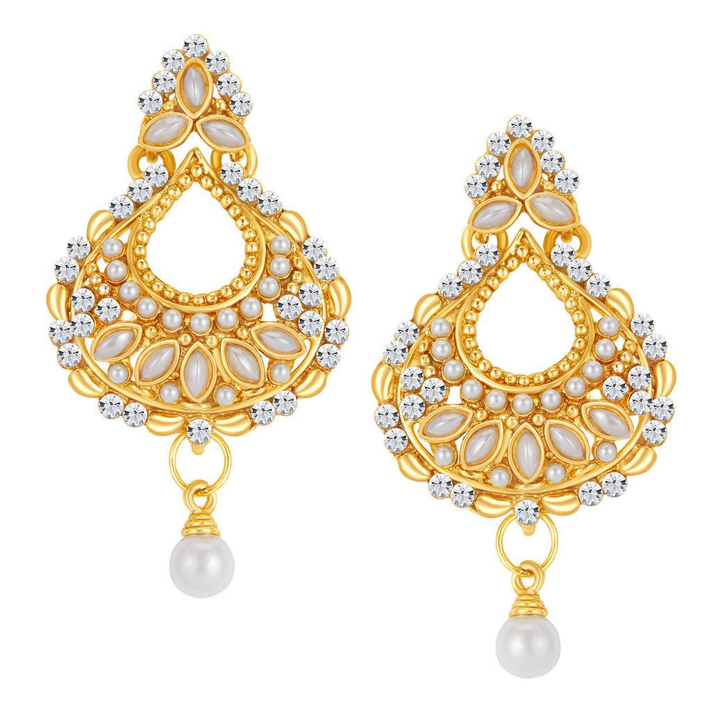 ShoStopper Eye-Catchy Gold Plated Austrian Diamond Earring
