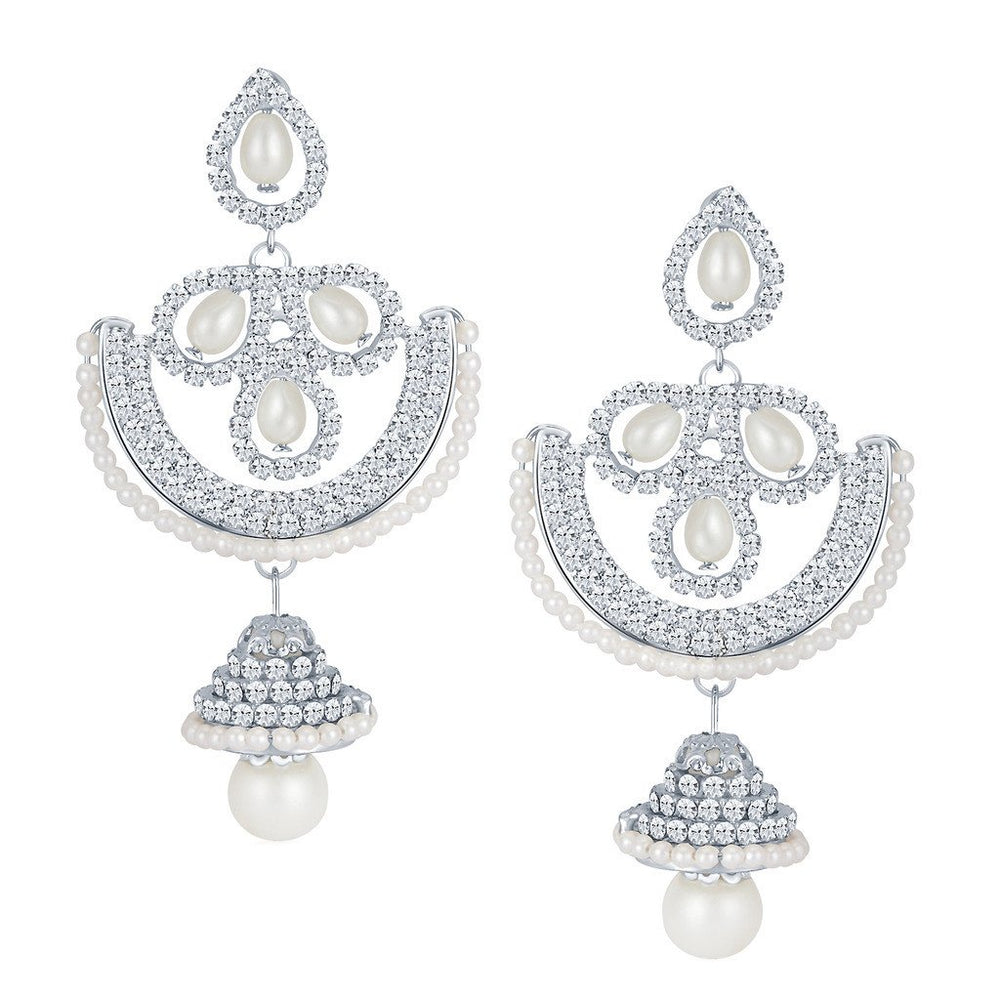 ShoStopper Beguiling Rhodium Plated Austrian Diamond Earring