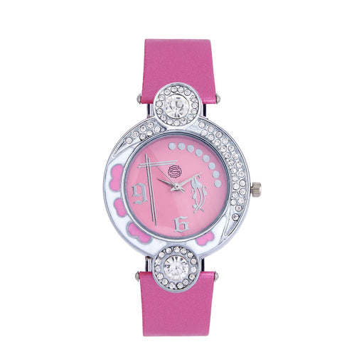 Shostopper Pretty Pink Dial Analogue Watch For Women - SJ62001WW