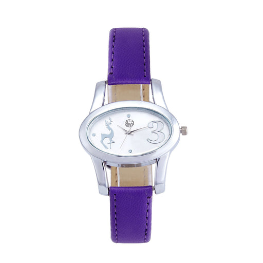 Shostopper Lavender Silver Dial Analogue Watch For Women - SJ62005WW