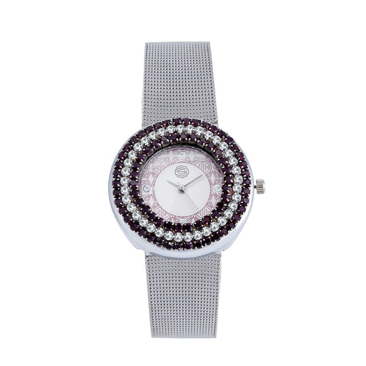 Shostopper Glamorous White Dial Analogue Watch For Women - SJ62006WW