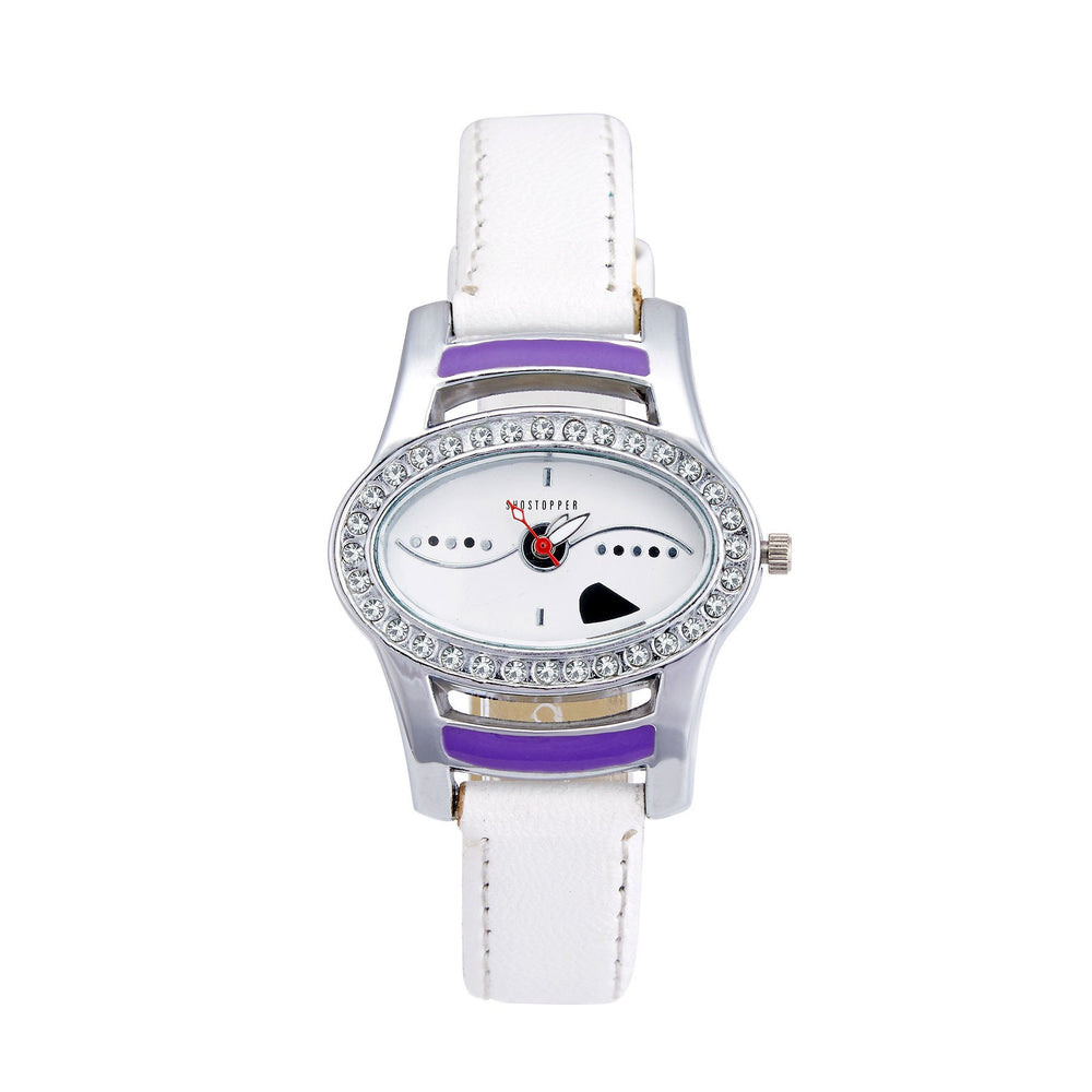 Shostopper Eye-catch White Dial Analogue Watch For Women - SJ62010WW