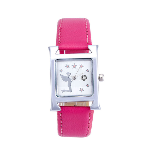 Shostopper Pink Lady White Dial Analogue Watch For Women - SJ62011WW