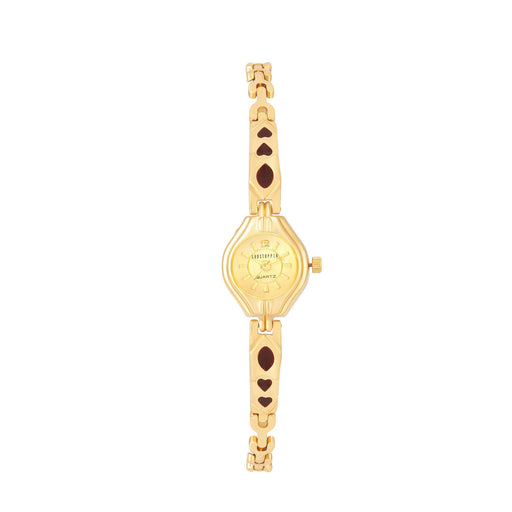 Shostopper Fine Gold Dial Analogue Watch For Women - SJ62013WW