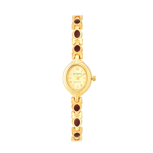 Shostopper Ellegant Gold Dial Analogue Watch For Women - SJ62019WW