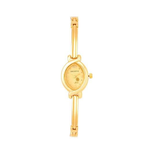 Shostopper Lavish Gold Dial Analogue Watch For Women - SJ62020WW