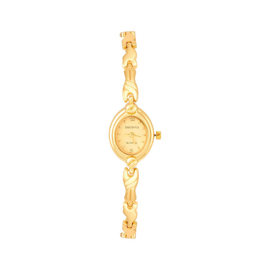 Shostopper Delightful Gold Dial Analogue Watch For Women - SJ62023WW