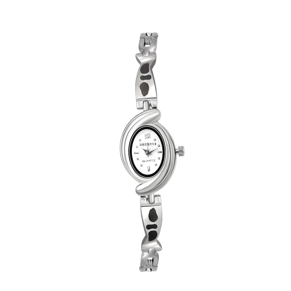 Shostopper Wavy White Dial Analogue Watch For Women - SJ62024WW