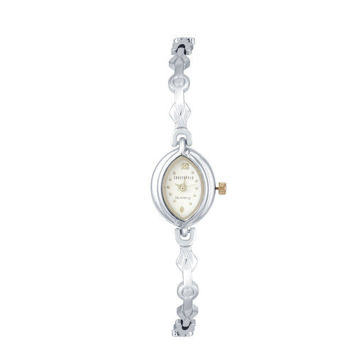 Shostopper Divine White Dial Analogue Watch For Women - SJ62027WW