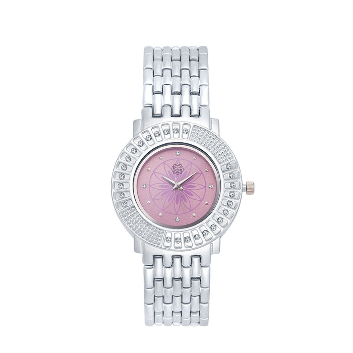 Shostopper Royale Pink Dial Analogue Watch For Women - SJ62029WW