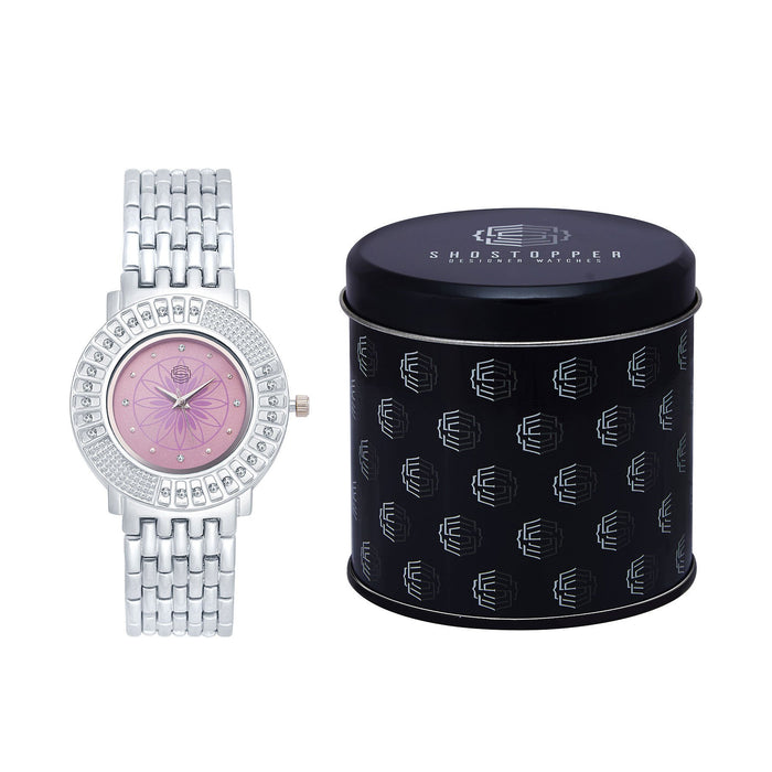 Shostopper Royale Pink Dial Analogue Watch For Women - SJ62029WW-1