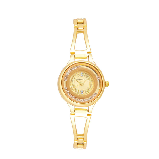 Shostopper Gorgeous Gold Dial Analogue Watch For Women - SJ62036WW