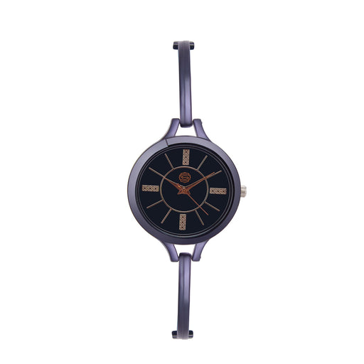 Shostopper Slim Black Dial Analogue Watch For Women - SJ62037WW