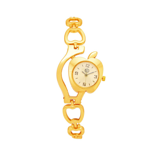 Shostopper Appy Gold Dial Analogue Watch For Women - SJ62043WW
