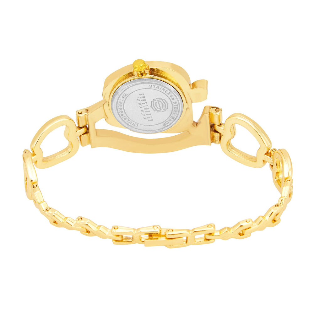 Shostopper Appy Gold Dial Analogue Watch For Women - SJ62043WW-3