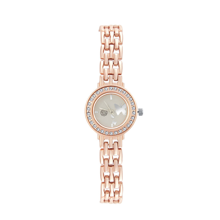 Shostopper Natures White Dial Analogue Watch For Women - SJ62045WW