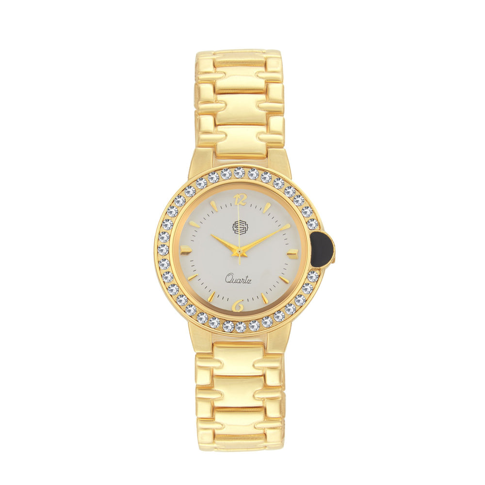 Shostopper Admirable White Dial Analogue Watch For Women - SJ62051WW