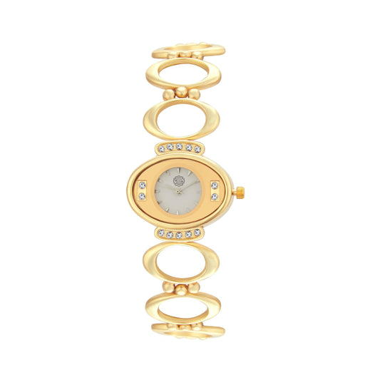 Shostopper Lovable White Dial Analogue Watch For Women - SJ62052WW