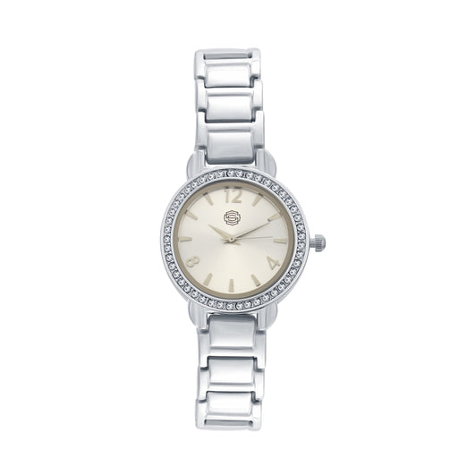 Shostopper Crazy Silver Dial Analogue Watch For Women - SJ62053WW