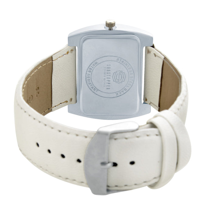 Shostopper Snowy White Dial Analogue Watch For Women - SJ62060WW-3