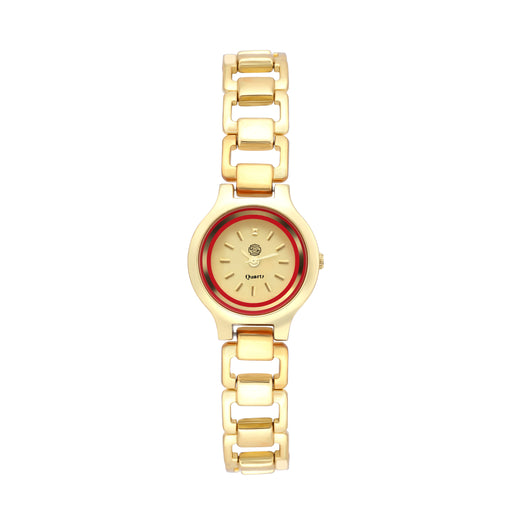 Shostopper Pretty Golden Dial Analogue Watch For Women - SJ62064WW